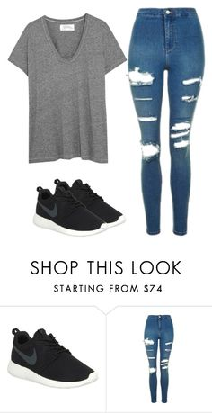"""Untitled #710"" by bigbowsandnikepros ❤ liked on Polyvore featuring NIKE, Topshop and The Great"