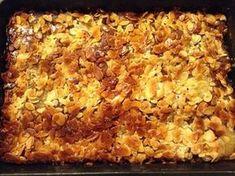 Kaneläppelkaka med vaniljtosca i långpanna Baking Recipes, Snack Recipes, Dessert Recipes, Snacks, Kitchen Confidential, Sweet Pie, Cute Cakes, Cakes And More, No Bake Desserts