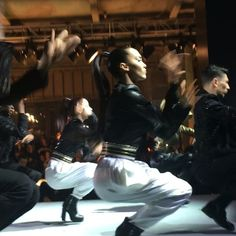 Pin for Later: Everything You Need to See From the Epic Balmain x H&M Runway The show began with a choreographed dance.