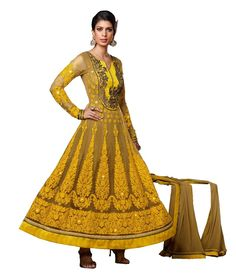 Loved it: Ajay And Vijay Golden Net Semi Stitched Embroidered Salwar Suit, http://www.snapdeal.com/product/ajay-and-vijay-golden-net/684950303