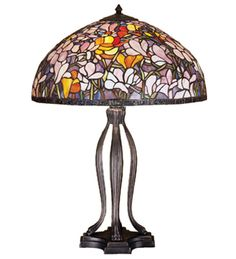 30 Inch H Tiffany Magnolia Table Lamp Table Lamps