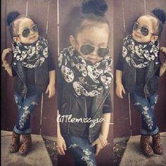Lol too cute :)Kids fashion Little Girl Outfits, Cute Outfits For Kids, Little Girl Fashion, Toddler Outfits, Cute Kids Fashion, Toddler Fashion, Fashion Children, Fall Fashion, Fashion 2020