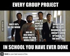 Every group project ever done in the history of mankind!