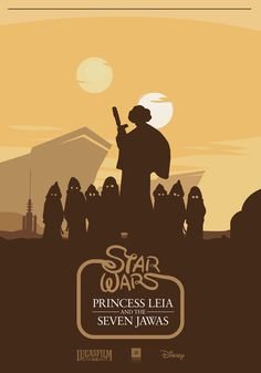 Princess Leia and The Seven Jawas - Star Wars Fan Art  - GeekTyrant