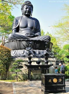 Tokyo Daibutsu, a Great Buddha statue at a height of 13m (only 0.35m smaller than the Kamakura Daibutsu), but a lot younger; 1977 to commemorate the victims of the WWII and the victims of the Great Kanto earthquake from 1923.