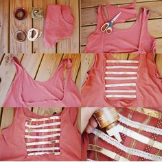 DIY: lattice ribbon crop top