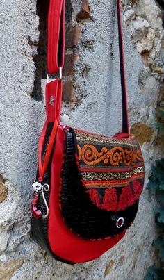 Le superbe sac Musette cousu par Kocotte - Patron de couture Sacôtin