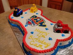 Paw patrol here, but I made it a puppy dog pals for my grandson. Leo Birthday, Twin Birthday, 3rd Birthday Parties, Birthday Ideas, Paw Patrol Cake, Paw Patrol Party, Paw Patrol Sheets, Paw Patrol Birthday Theme, Cumple Paw Patrol