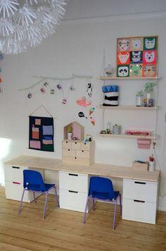 15 ideas para hacer un escritorio infantil Girls Bedroom, Study Room Design, Shared Rooms, Kids Decor, Home Decor, Living Room Modern, Kids Furniture, Room Inspiration, Playroom
