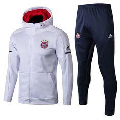 1695a1a9 FC Bayern Munich Football team ADIDAS Fußball-Club Bayern München e.V 2017- 18 Pre-Match Replica Pullover TRAINING Zip Casual TOPS TRACKSUIT FÚTBOL  CALCIO ...