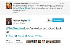 Oh Harry he has a heart of gold
