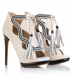 Nicholas Kirkwood tassel leather cut-out sandals, Spring 2011
