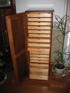 Rubber Stamp Cabinet crafted by Sandhill Creations
