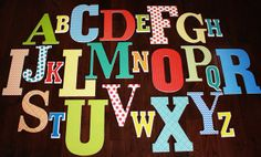 The BasicsGender Neutral Complete Alphabet by ABC123WoodenLetters, $149.00