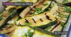 Gegrillte Zucchini mit frischen Kräutern Kraut, Vegetables, Food, Grilled Zucchini, Summer Days, Ketogenic Recipes, Meal, Essen, Vegetable Recipes