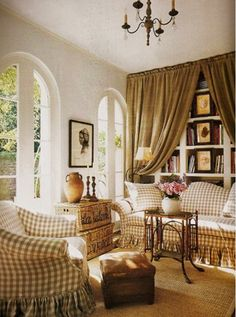 Bright and Open Den - via Eye For Design: Decorate With Buffalo Checks For Charming Interiors