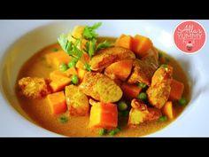 Chicken, Sweet Potato & Coconut Recipe - Карри из курицы со сладким картофелем - YouTube
