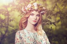 Beautiful blonde woman with flower wreath on her head by Oleg Gekman on 500px