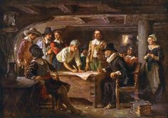 Items similar to Poster, Many Sizes Available; Mayflower Compact By Jean Leon Gerome Ferris on Etsy Thanksgiving Day In America, Origin Of Thanksgiving, First Thanksgiving, George Washington, Mayflower Compact, Dominican Republic Map, Cape Cod Map, 13 Colonies, Colonial America