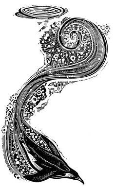 Diving Penguin - wood-engravings at the Kenspeckle Letterpress