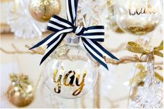 DIY Personalized Glitter Ornaments   Spectacularly Easy DIY Ornaments for Your Christmas Tree