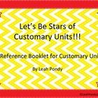 A printable booklet (or can be ran as a packet) to help students understand customary units. Inches, feet, yards, miles, ounces, pounds, tons, cups, pints, quarts, and gallons are all covered. Great resource for students to have on hand.
