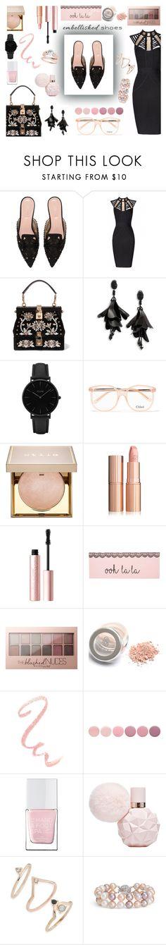 """Senza titolo #6087"" by waikiki24 ❤ liked on Polyvore featuring Alberta Ferretti, Posh Girl, Dolce&Gabbana, Oscar de la Renta, CLUSE, Chloé, Stila, Too Faced Cosmetics, Maybelline and Deborah Lippmann"