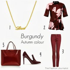 Colour inspiration: burgundy Colour Inspiration, Burgundy, Shopping, Image, Fashion, Red, Moda, La Mode, Fasion