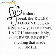 Life is Short Quote