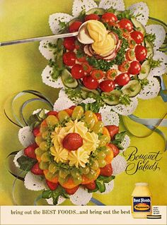 vintage 1960 bouquet salads best foods mayonnaise advertisement - Buffet Retro Cuisine