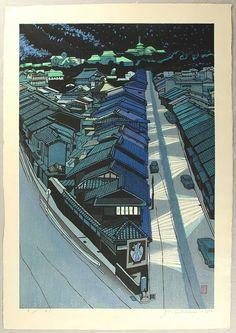Night in Kyoto by Sekino Junichiro