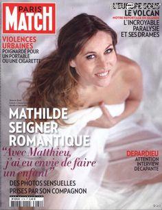 Mathilde Seigner en couverture de Paris Match