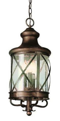 Trans Globe Lighting 5126 ROB 4-Light Hanging Lantern, Rubbed Oil Bronze by Trans Globe Lighting. $169.10. Coastal New England horse and carriage hanging lantern. Cross bar frame with rounded seeded glass. Wrought iron accents and matching chain.
