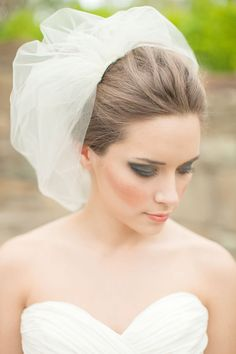 Double Layer Tulle Blusher Veil Tulle Veil by MelindaRoseDesign, $80.00