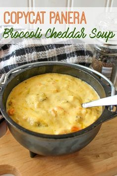Copycat Panera Broccoli Cheddar Soup Recipe - A dupe of Panera's most delicious Broccoli & Cheese Soup — Make as much as you'd like at home!