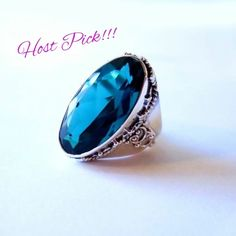 💍.925 Sterling Silver Topaz Blue Ring💍 NEW without tag. Beautiful Sterling Silver Topaz Blue Quartz Ring. Stamped. Jewelry Rings