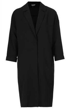Longline Throw On Coat - Boyfriend & Cocoon Coats - Jackets & Coats - Clothing