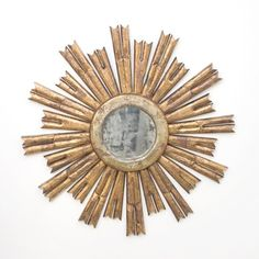 Rinaldo Gold Leaf Starburst Mirror - Worlds Away - $650.00 - domino.com #dominomag #pintowin