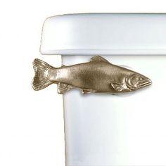 Amazon.com: Trout Toilet Flush Handle - Front Mount - Gold: Home & Kitchen