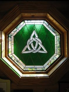 St. Patrick's Day | Celtic Knot stained glass window from The Irish Inn located in Ozark, IL.