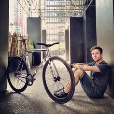A man with the bicycle #bicycle_apparel HelmetCity.com