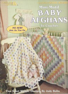 Mini-Motif Baby Afghans Leisure Arts 2300 by KnitKnacksCreations