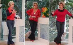 Vermelho é uma das cores preferidas das pessoas para o 'look' da noite de Natal. Que tal se inspirar nas blusas que Ana Maria Braga usou esse ano?