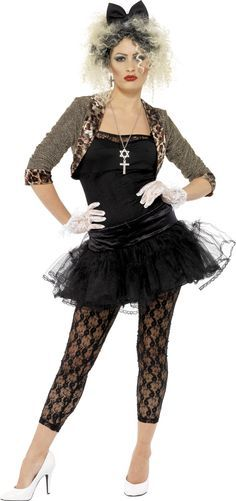 80S WILD CHILD FANCY DRESS COSTUME LADIES (1970S , 1980S , MUSIC)