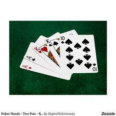 Poker Hands - Two Pair - Ace, King Postcard