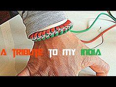 Tiranga(India's flag) inspired snake knot paracord bracelet easy tutorial.