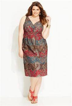 Paisley Cotton Sundress | Plus Size New Arrivals | Avenue
