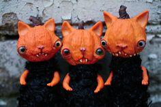pumpkin monster cats