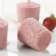 Strawberry-Rhubarb Ice Pops Recipe from Taste of Home -- shared by Donna Linihan of Moncton, New Brunswick
