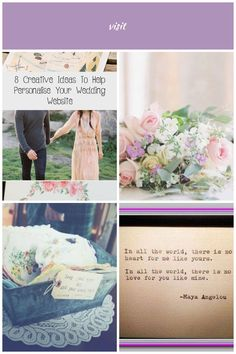 The purpose of a wedding website is to provide all of the necessary information and finer details in the lead up to your day. But that doesn't mean it has to be boring! wedding details thoughts 8 Creative Ideas To Help Personalise Your Wedding Website Wedding Website, Wedding Details, Creative Ideas, Purpose, Thoughts, Drink, World, Day, Diy Creative Ideas
